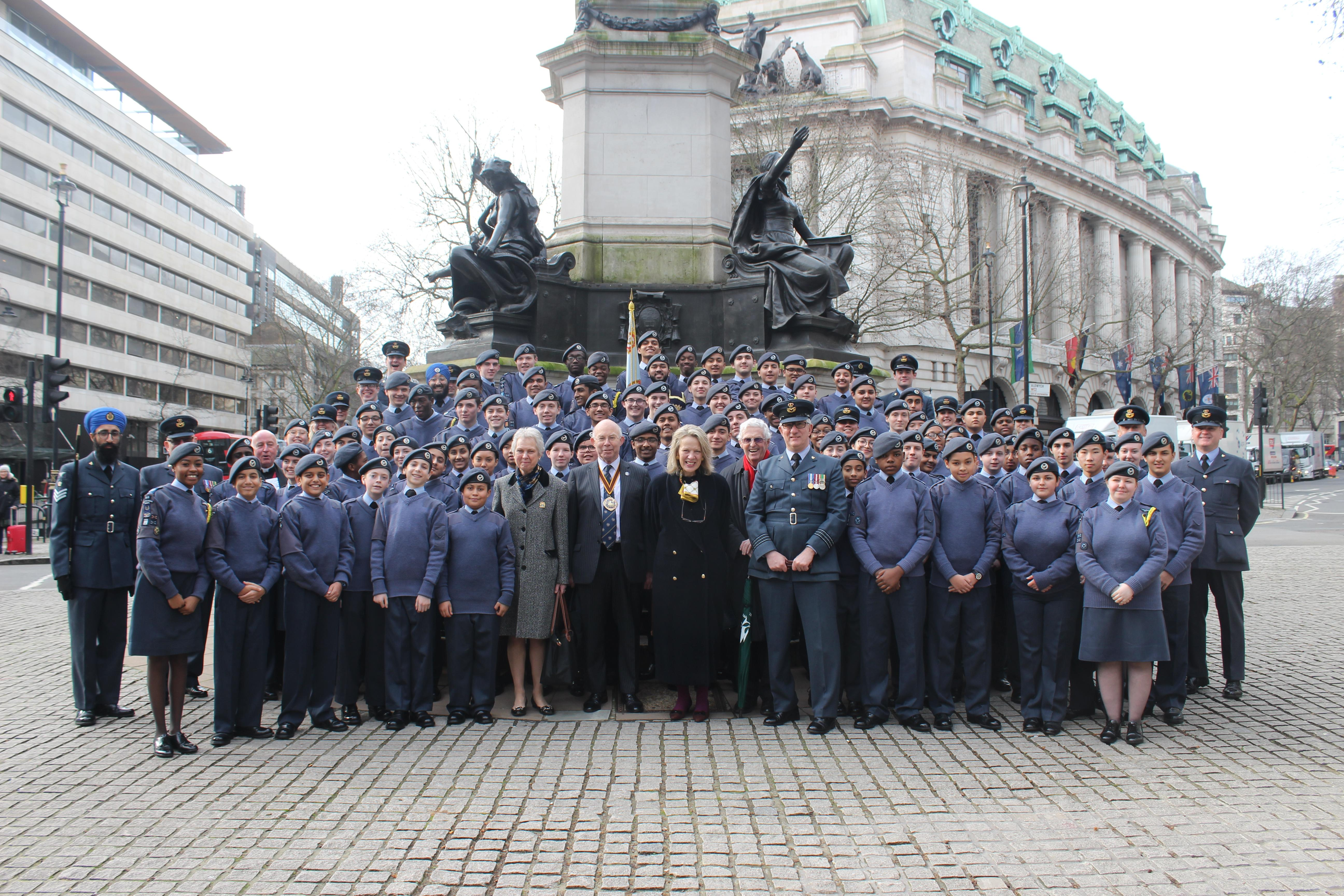 2020 RAF Cadets Thanksgiving Service with Master and Anne Courtney