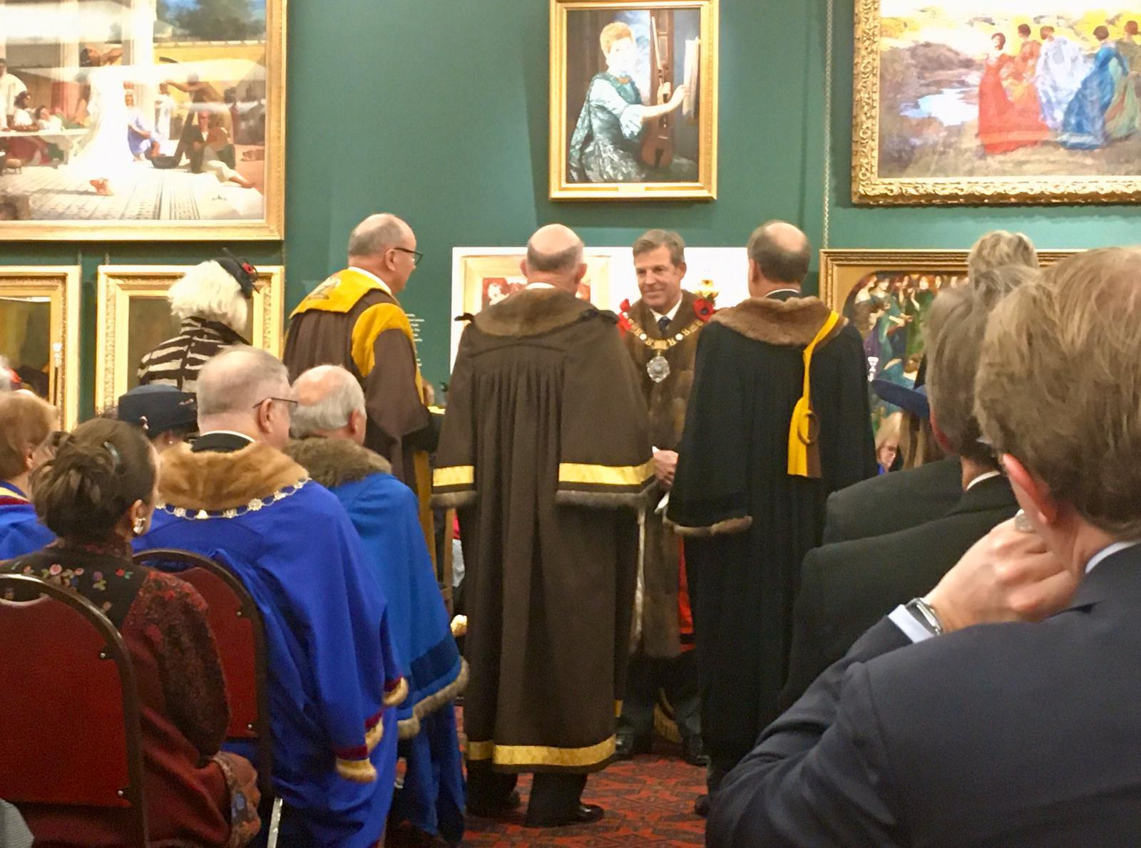 Master and Wardens with Lord Mayor 2019