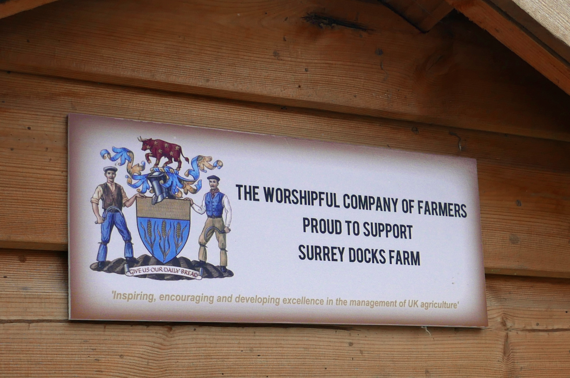 WCF sign at Surrey Docks farm