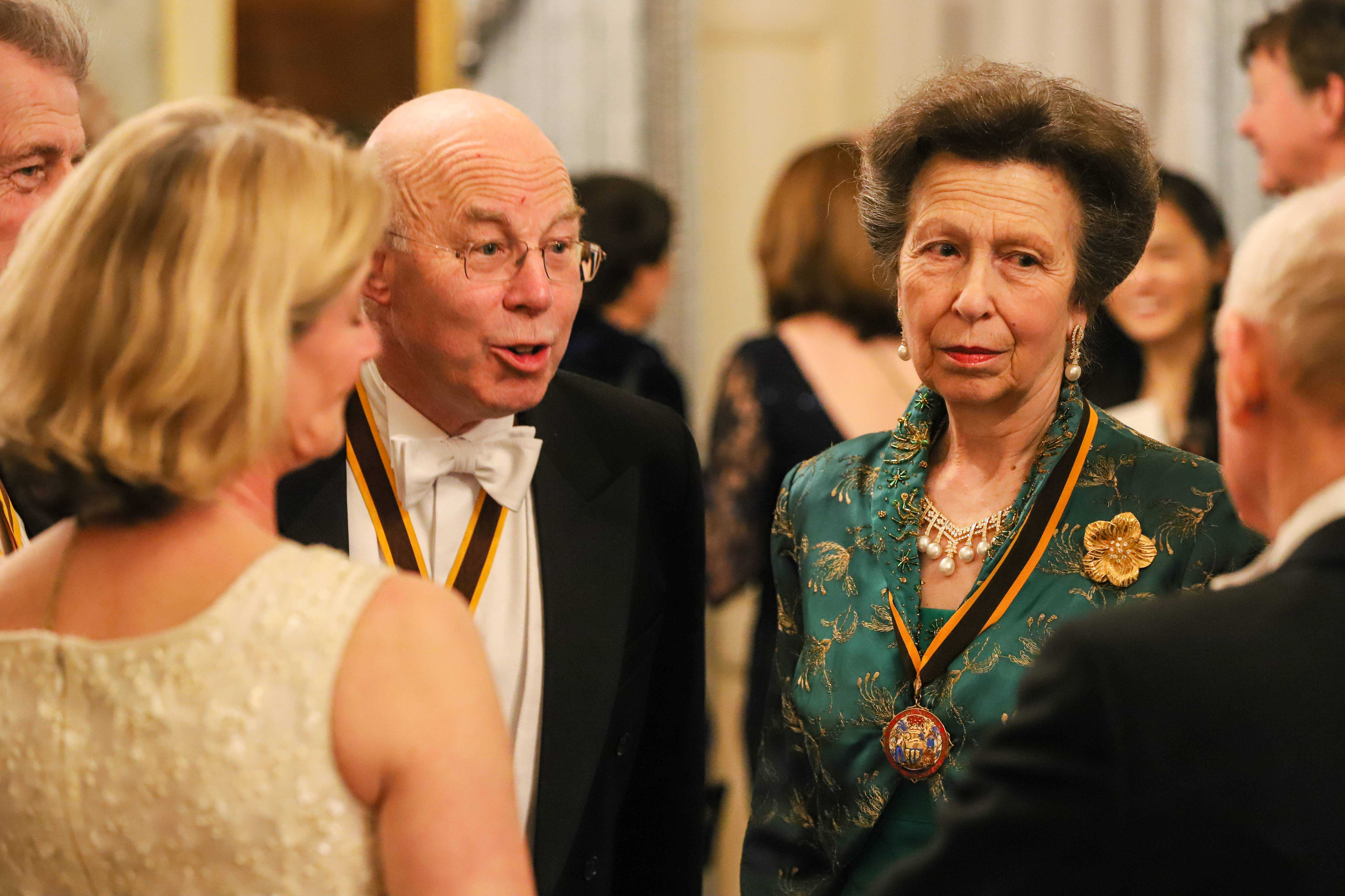 HRH The Princess Royal the Master and his wife