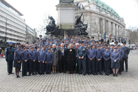 The Company joins Middlesex Wing Air Cadets at the St Clements Danes Church