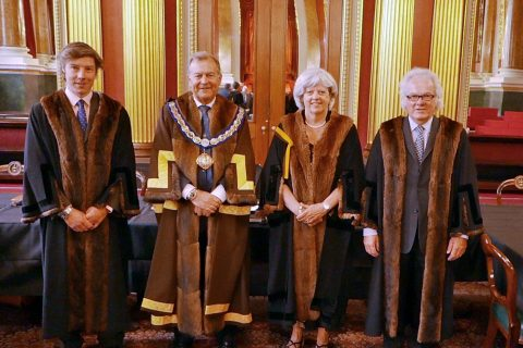 Three new Liverymen clothed at the 2021 June Court Meeting