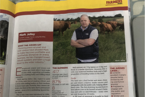 Congratulations to WCF alumni, Mark Jelley who is through to the Farmers Weekly Awards final