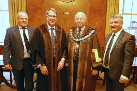 3 new Liverymen clothed after the December Court meeting