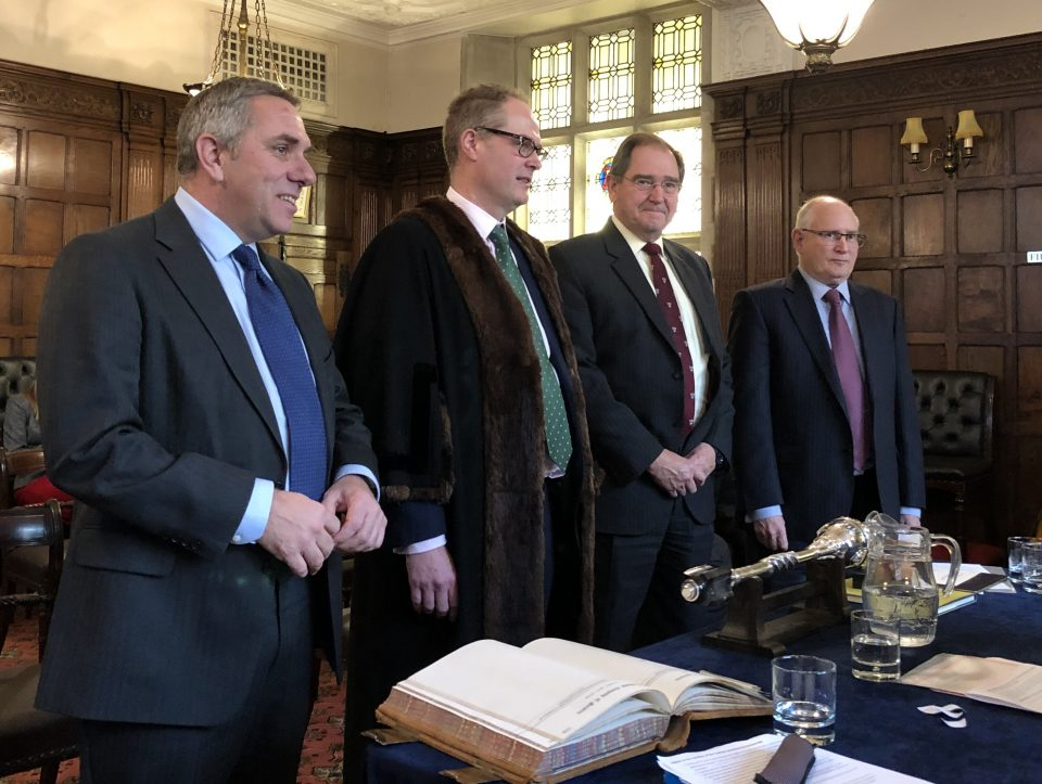 New Liverymen join at Dec 2018 Court meeting
