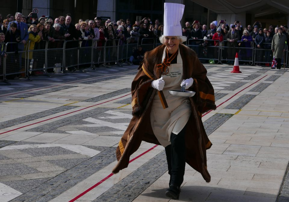 Master at 2019 Pancake race