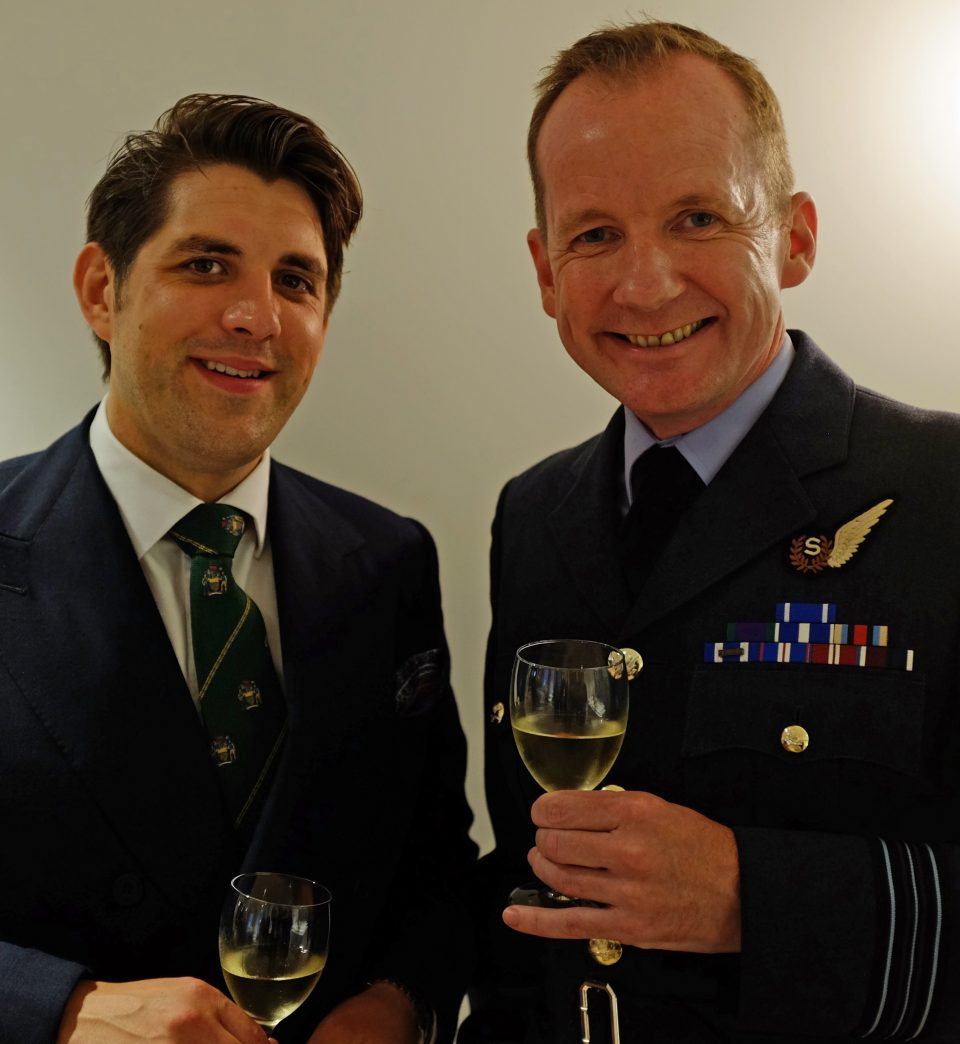 Peter Wiggins-Davies and Squadron Leader Dave McRitchie